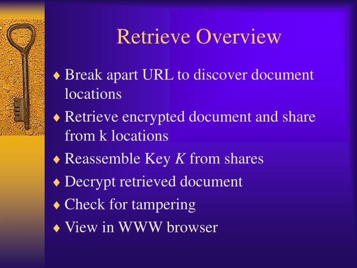 Retrieve Overview