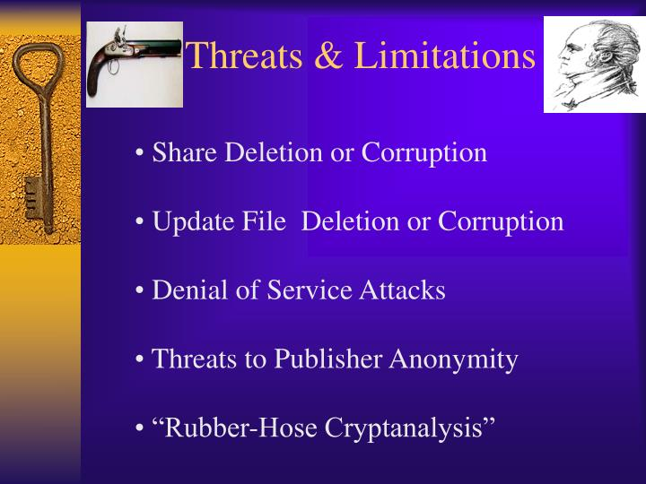 Threats & Limitations