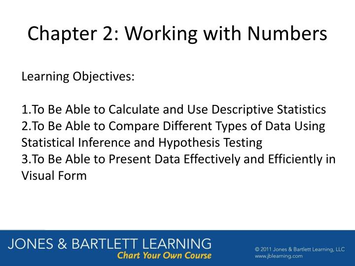 Chapter 2 working with numbers