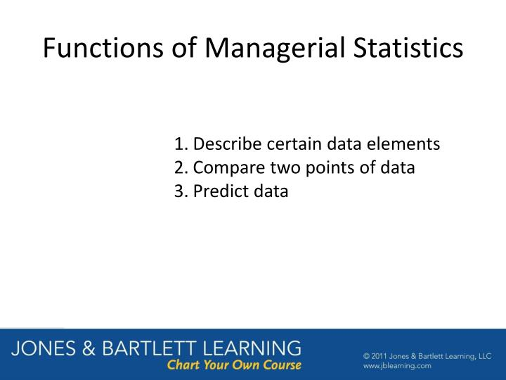 Functions of Managerial Statistics