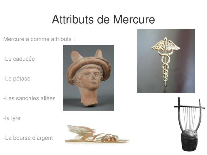 Attributs de Mercure