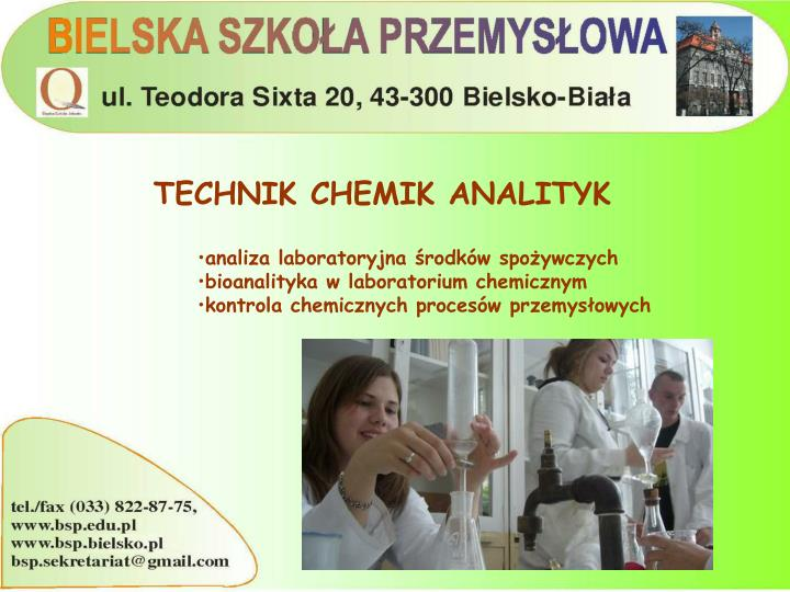TECHNIK CHEMIK ANALITYK