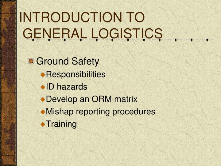 introduction to general logistics n.