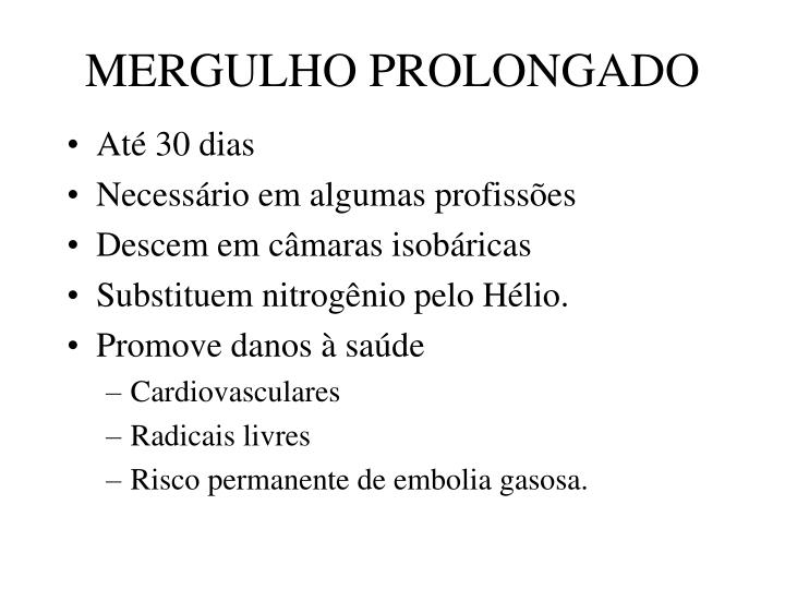 MERGULHO PROLONGADO