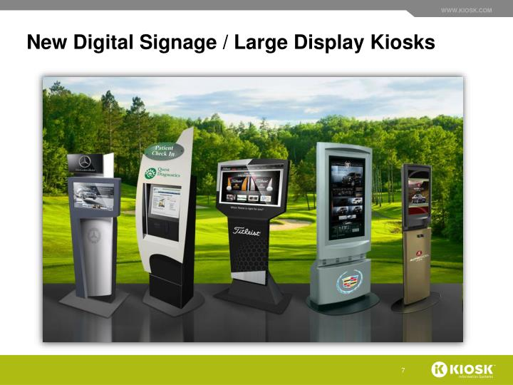 New Digital Signage / Large Display Kiosks