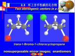 2 3 two stereogenic centers in a ring