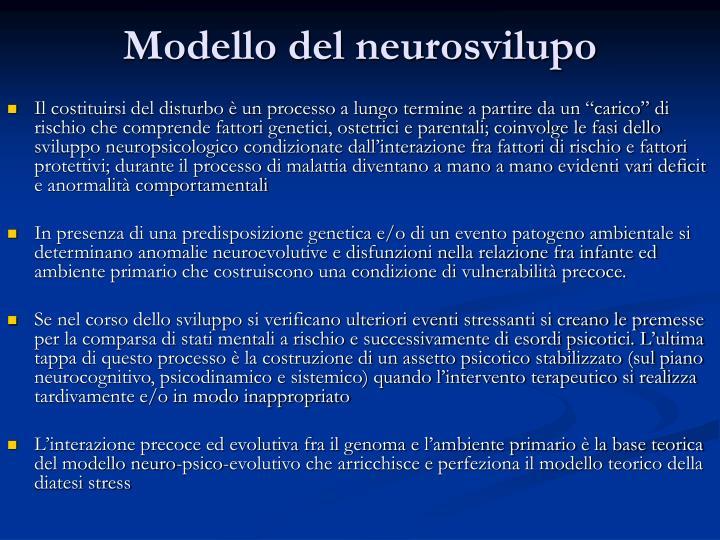 Modello del neurosvilupo