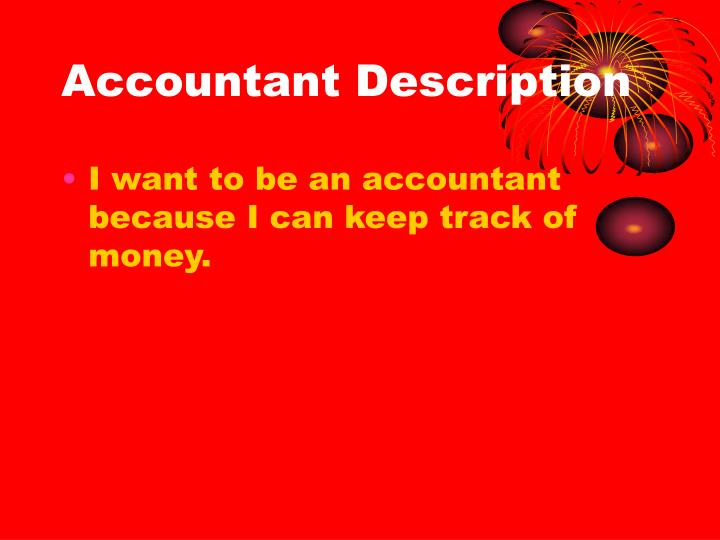 Accountant Description