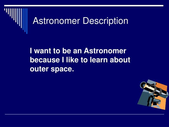 Astronomer description