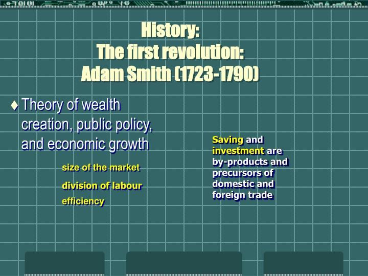 History the first revolution adam smith 1723 1790