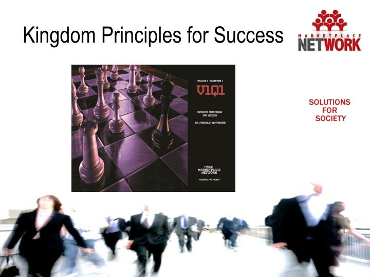 Kingdom Principles for Success