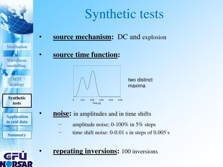 Synthetic tests