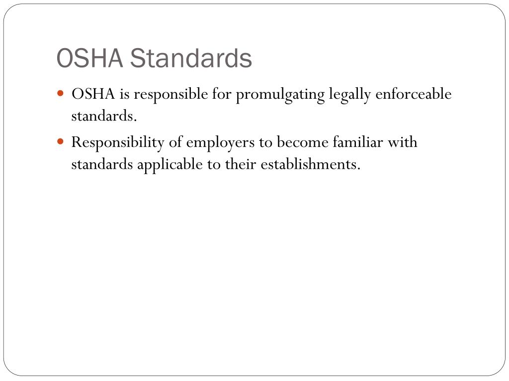 PPT - The Occupational Safety and Health Act of 1970