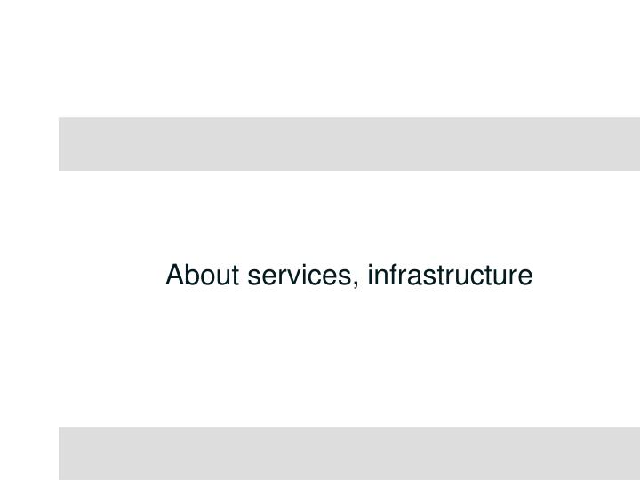 About services, infrastructure