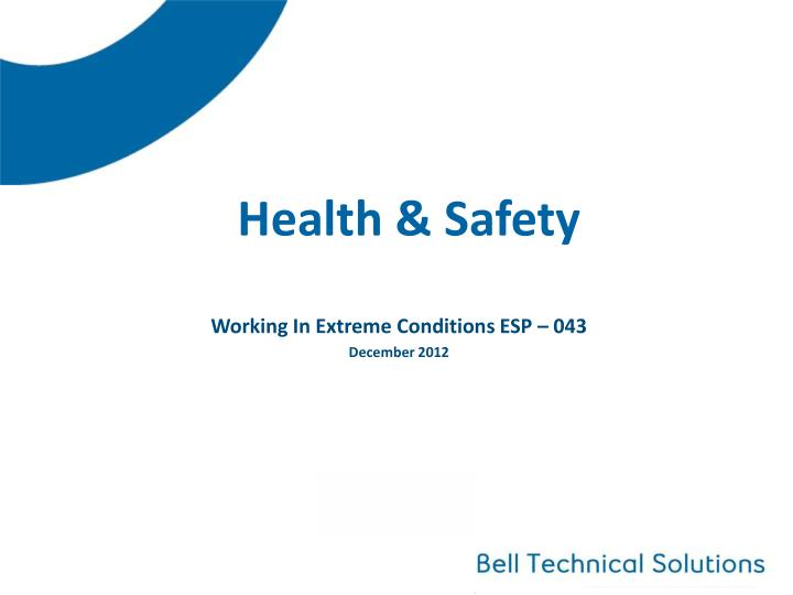 health safety n.