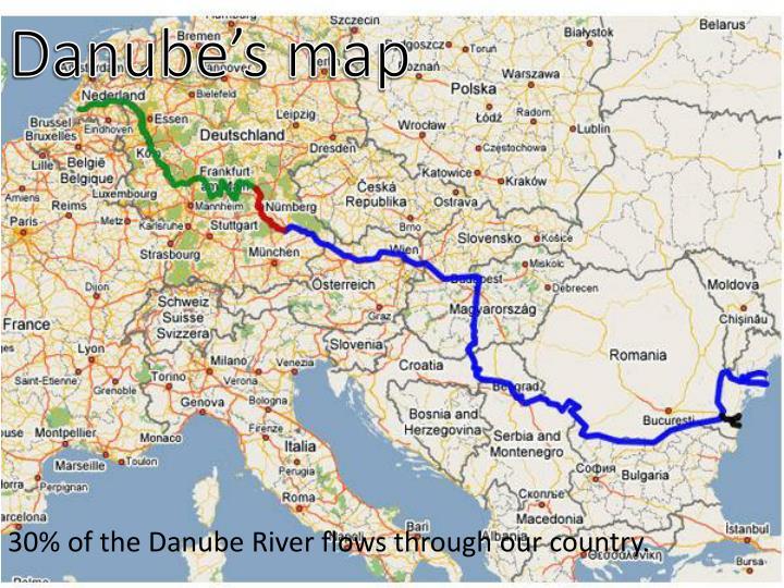 Danube's map