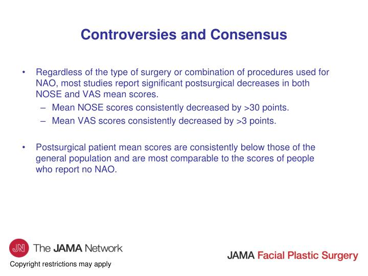 Controversies and Consensus