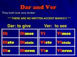 dar and ver