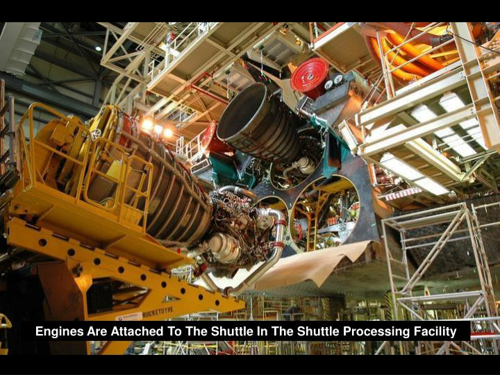 Engines Are Attached To The Shuttle In The Shuttle Processing Facility