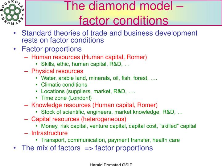 hyundai factor of proportions theory Factor proportions theory heckscher (1919) - olin (1933) theory export goods that intensively use factor endowments which are locally abundant corollary: import goods made from locally scarce factors note: factor endowments can be impacted by government policy.