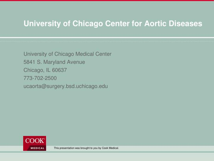 University of Chicago Center for Aortic Diseases