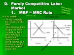 purely competitive labor market 1 mrp mrc rule