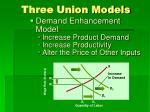 three union models