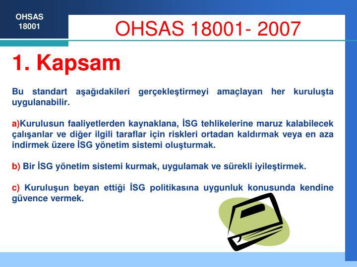 Ohsas 18001 20071