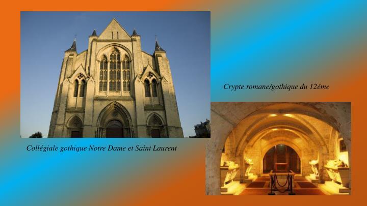 Crypte romane/gothique du 12éme