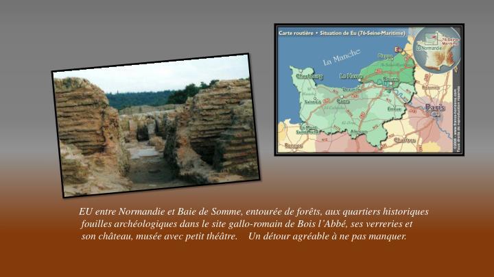 EU entre Normandie et Baie de Somme, entourée de forêts, aux quartiers historiques