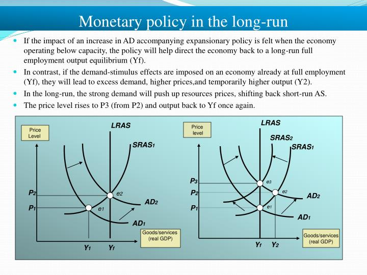 Monetary policy in the long-run