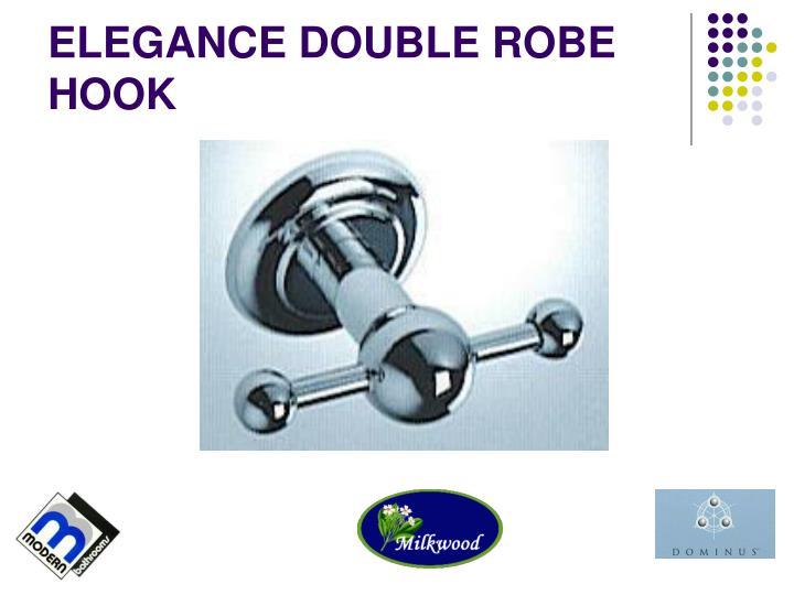 ELEGANCE DOUBLE ROBE HOOK