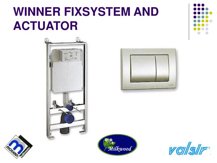 WINNER FIXSYSTEM AND ACTUATOR