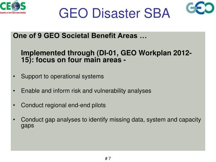 GEO Disaster SBA