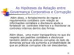 as hip teses da rela o entre governan a corporativa e corrup o7