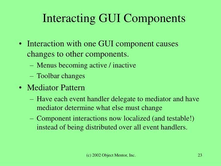 Interacting GUI Components