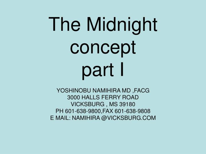 the midnight concept part i n.