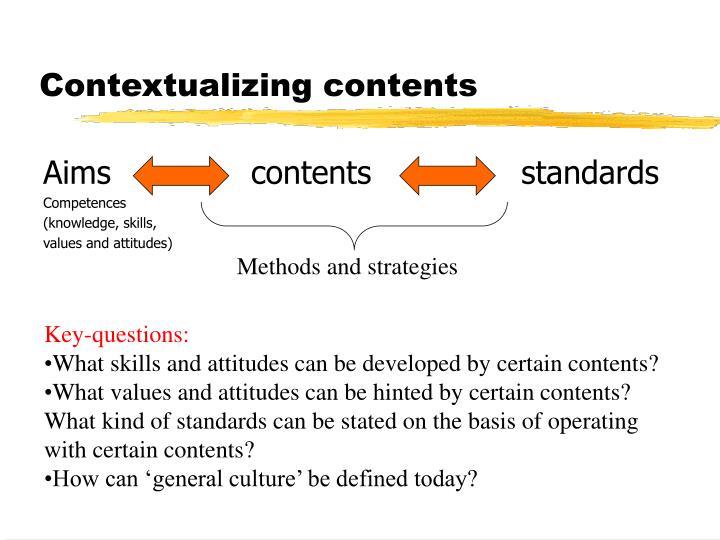 Contextualizing contents