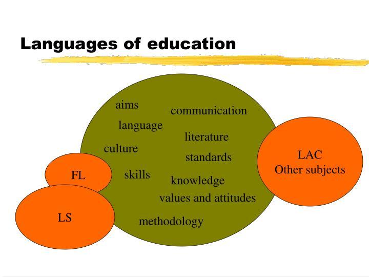 Languages of education