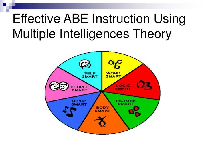 Effective ABE Instruction Using Multiple Intelligences Theory
