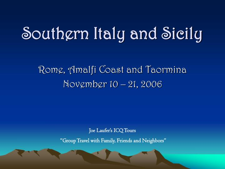 southern italy and sicily n.
