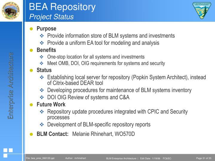 BEA Repository