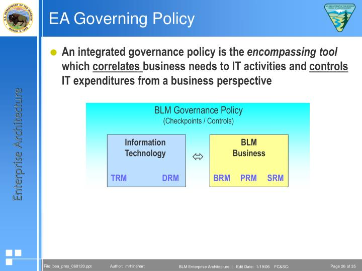 EA Governing Policy
