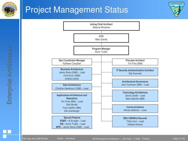 Project management status