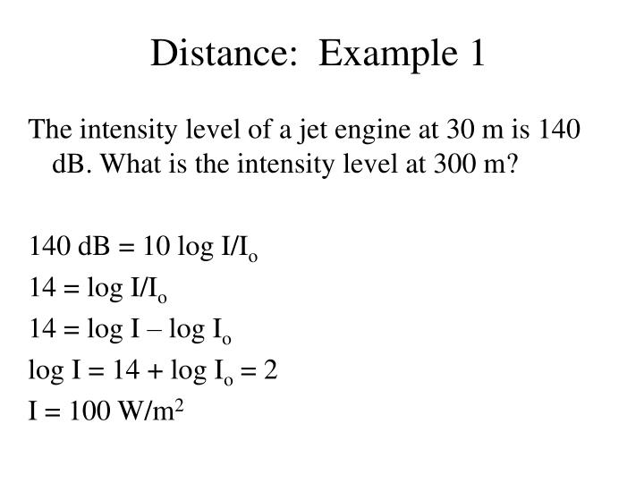 Distance:  Example 1