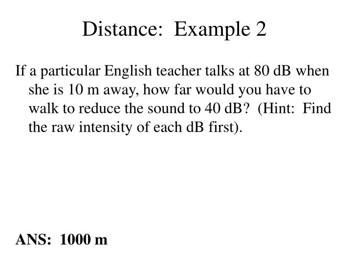 Distance:  Example 2