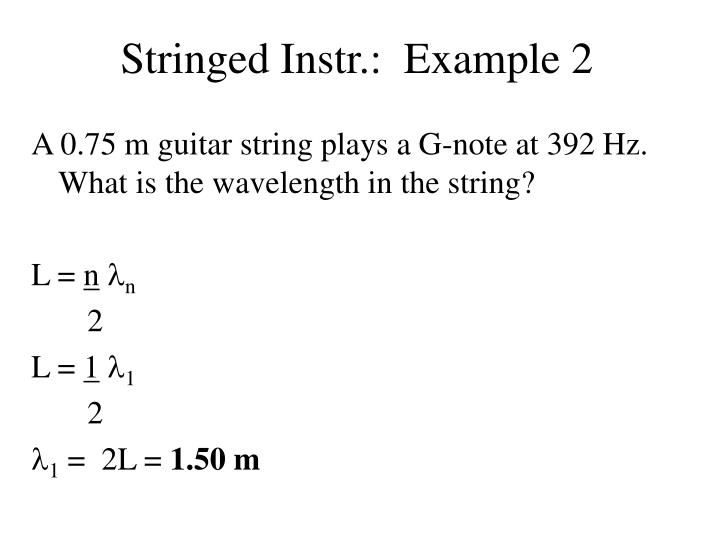 Stringed Instr.:  Example 2