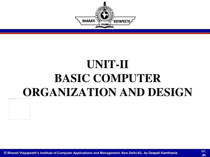 Ppt Unit Ii Basic Computer Organization And Design Powerpoint Presentation Id 7013027