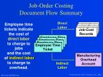 job order costing document flow summary1