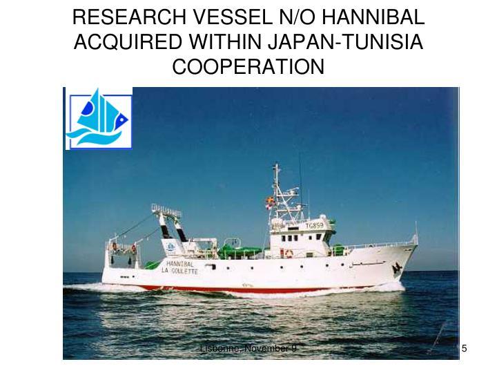 RESEARCH VESSEL N/O HANNIBAL